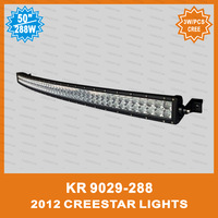 Pair of  50inch 288W Led Car Light bar, Curved Led Light bar used for Off-road lights KR9029-288 DHL FREE SHIPPING CREESTAR