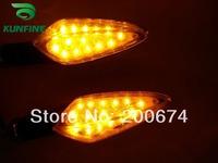 Free Shipping Universal LONG FOOT Carbon Motorcycle LED indicator LED Turn signal light amber color KF-201