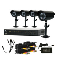 KARE 8CH CCTV DVR 4 Day Night Weatherproof Security Camera Surveillance System NO HD Full Kit