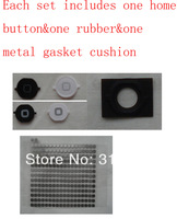(DHL EMS Free)100% Top Quality Guarantee for iPhone 4S Home Button Keypad+Rubber+Metal Gasket Cushion Holder Mat(100Sets/Lot)