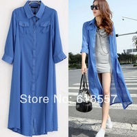 New 2014 spring summer women casual dresses chiffon cardigan ultra long sun protection wear one-piece dress comfortable dress