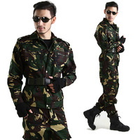 The special forces outdoor jungle camouflage combat uniforms suit male CS field equipment hunter camouflage clothing