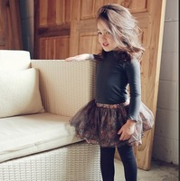 2014 Spring Fashion Pastoralism Shivering Cotton&Tulle Kid Girls Leggings Culottes Pants Child/Baby/Kid Girl Pantskirt 575128