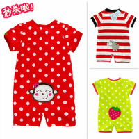 2014 Infant Baby Bodysuit Summer Baby Rompers Boy Girl Newborn Clothing  Climbing Clothes 100% Cotton Short-sleeve Free Shiping