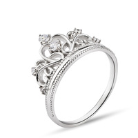 925 sterling silver ring 925 Silver Jewelry Crown Ring With AAA Cubic Zircon for Women Fashion Crystal Jewerly  GNJ0515