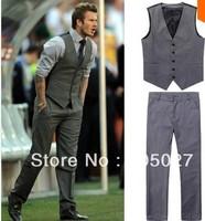 freeship Beckham bakham mens suits vest male casual slim vest pant set (vest+pant) no.94