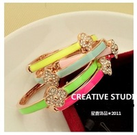 Brief diamond clover bracelet colorful neon color bracelet