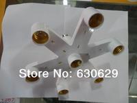 Lamp Holder Converter  E27     1turn 7 (E27) Lamp holder   Bulb Adapter Converter Splitter A variable multiple  Free shipping