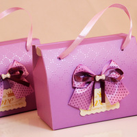 GAGA ! Free shipping exquisite  bowknot  wedding box ,cute candy box ,gift  box,11.5cm*9cm*7cm,100pcs/lot,HMY1-1-5/purple