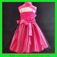 Girls dress 5 color choose wholesale for baby girl party dress girls summer dress 2014 children dress kids clothing