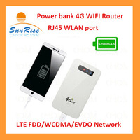 Free shipping  Unlock pocket Wifi Wireless WCDMA  3G Router wIth SIM Slot Hotspot 5200mAh  power bank functions