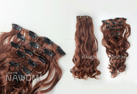 7 Layer One Piece New Long Synthetic Curly Weave Clip In Hair Extensions Fashion Hairpiece For Women 6 colors