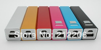 30pcs/lot Mini Portable Power Bank for mobile phones and for Tablet PC 2600 mAh square columns