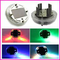 4PCs/lot Auto Colorful RGB Waterproof flash Glare Car Solar Power energy Light Lamp LED Wheel decorative Lightings