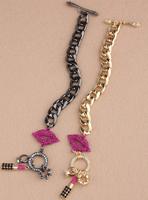 Small Red Lips Lipstick Bracelet Female Multi-layer Jewelry 2014