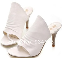 Summer Roman women shoes one word is cool procrastinate comfortable household women high-heeled slippers