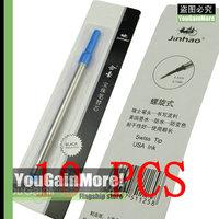 Lot Of 10 Jinhao Roller Ball Pen Refills Screw Type Blue Ink