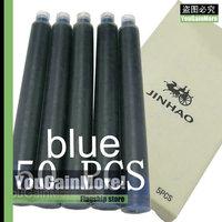 Lot Of 50 Jinhao Standard Fountain Pen Blue Ink Refill Cartridges