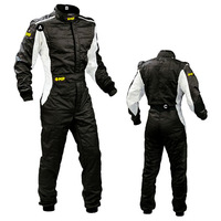 Free Shipping White And Black OMPP Professional Overall Racing Suits Kart Racing Suits Jumpsuit For Drift Race Conjoined Clothes