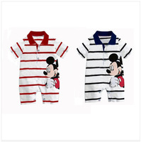 2014 Autunm children clothing,bodysuit romper baby,Mickey&Minne jumpsuit children,baby rompers branded