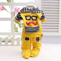 Male female child spring set child sports casual long-sleeve spring set 2014 children's clothing