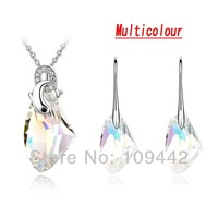 Jewelery Accessories Swa Elements Crystal Bridal Jewelry Sets Necklace & Earrings Wedding Gifts GJS139