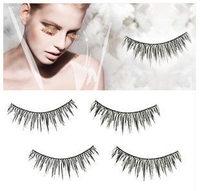 100 pcs  Natural Handmade Soft Long Black Fake False Eyelashes #217