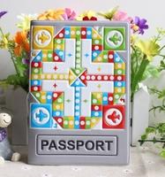 3D Aeroplane Chess passport holder passport cover