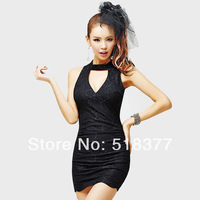 2014  Women's Prom Lace Short Slim Hip Dress Skirt Racerback Party Dresses Tight-Fitting Sexy One-Piece Dress Lady Casual Dress