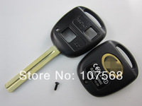 Free shipping replacement key shell for  Lexus 2 button remote key blank with TOY40 long blade;