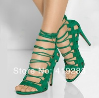 New 2014 Stilettlo High Heeled Sandal Snake Print Python Women Pumps Plus Size 10