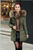 New arrival women's fashion elegant  winter fur inside cotton Parkas outwear coats Free Shipping High quality 1M9