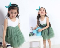 2014New children clothing Dress Summer Baby Girl gauze princess dress vest dresses kids fashion dress 5pcs/lot free shipping