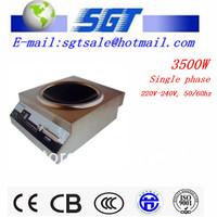 3500W commercial induction wok burner for restaurant kitchen use