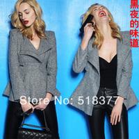 Promotion Elegant women's 2014 hot Selling fashion english-style slim waist slim shoulder pads blazer Woman casual