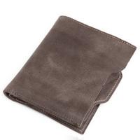 2014 New Vintage Casual Style Short Design Genuine Leather Slip Wallet For Men Pokcet Wallet Card Holders Money Bag Coin Purse