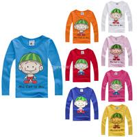 2014 spring child watermelon hat male female child baby long-sleeve T-shirt 100% 1149 basic cotton shirt  CC030A