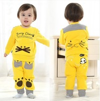 Lovely Baby Set  For Boy  And Girl Spring And Autumn 0-2 Years Cotton Baby Clothing Wholesale And Retail With Free Shipping