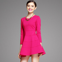 Spring 2014 European Grand Prix large size women's fashion dresses 3 color 4 big size