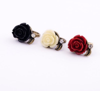 G144 Free Shipping Wholesales Hot Sales New Design Fashion Vintage Rose Ring for Girl Jewelry Accessories