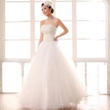 Free Shipping Beads Wedding Dress Wedding Dress Bandage Wedding Dress Bow Princess Wedding Dress New Arrival(China (Mainland))