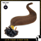 Fusion Prebond Keratin tip hair Nail Hair Extension human hair extension 100strands/pack color #6 light brown(China (Mainland))