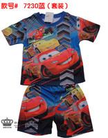 Free shipping! Cartoon  short sleeve shorts children  sets, hot Cars the summer Personality boy children clothes t shirt+shorts