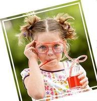 2 Pcs Novelty Items Multi-colors Glasses Drinking Straw Eyeglass Frames Free Shipping