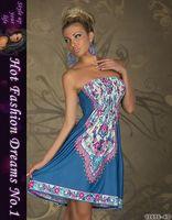 Fashion Retro Vintage Brief Printed slash neck Summer Dress Women Beach Dress Evening Dress free shipping  X4199