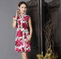 Fancy 2014 cheongsam one-piece dress fashion chinese style