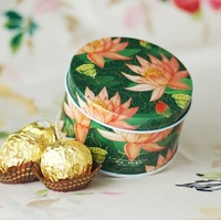 GAGA ! Free shipping Creativity round tin wedding  box, D8.5*H5.5(cm),candy box,gift box; 80pcs/lot,XFB2-5/green