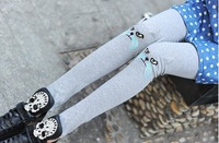 2014 New Sale Lovely Cat Pants Girl Knitting embroidery stereo Cat Sexy Women's Leggings Hot WF-4405