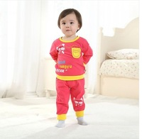 Lovely Baby Set  For Boy  And Girl Spring And Autumn Cotton Baby Clothing Wholesale And Retail With Free Shipping