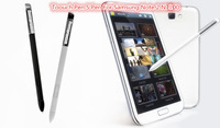 Wholesale White Black Plastic Touch Pen S pen S-pen For Samsung Galaxy Note 2 Note2 N7100 20pcs/lot